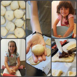 collage di foto che spiegano la preparazione della torta